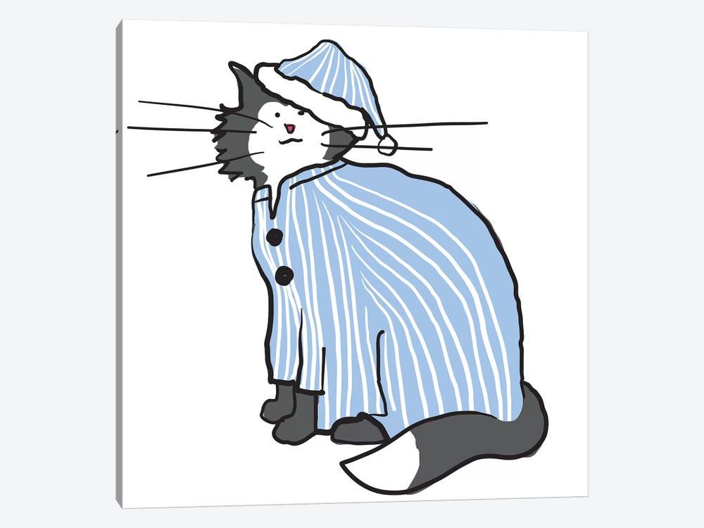 Pajama Cat by Kris Ruff 1-piece Canvas Artwork