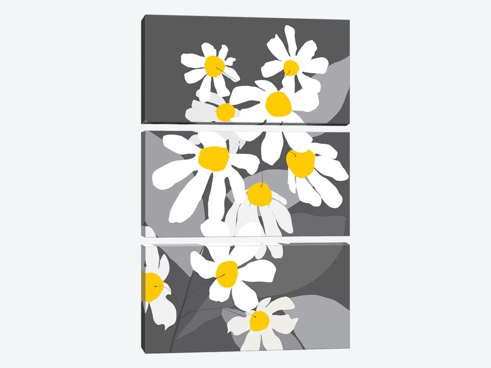 Spring Blossoms II by Kris Ruff 3-piece Canvas Print