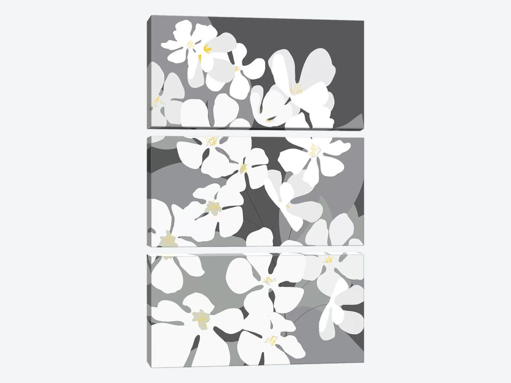 Spring Blossoms III by Kris Ruff 3-piece Canvas Print