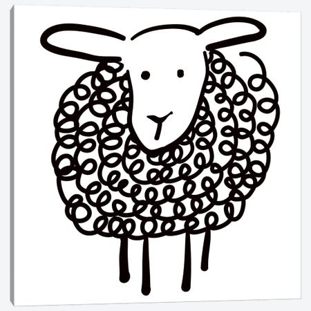 Wooley Sheep Canvas Print #KRU68} by Kris Ruff Canvas Art Print