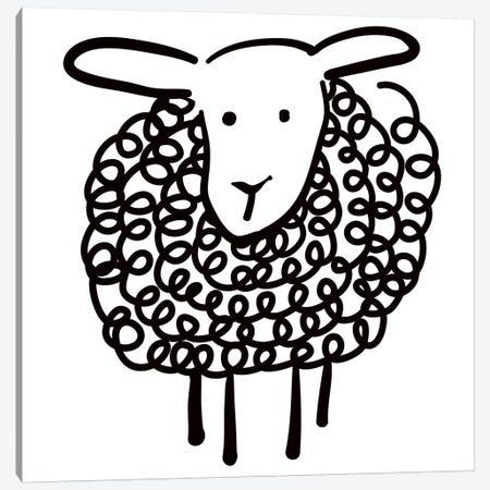Wooley Sheep Canvas Print #KRU68} by Kris Ruff Canvas Art Print