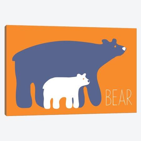 Zoo Bear Canvas Print #KRU70} by Kris Ruff Canvas Wall Art