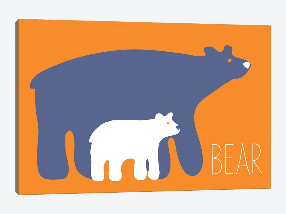 Zoo Bear by Kris Ruff 1-piece Canvas Artwork