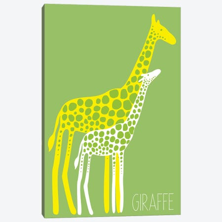 Zoo Giraffe Canvas Print #KRU72} by Kris Ruff Canvas Artwork