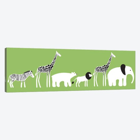 Zoo Parade Canvas Print #KRU76} by Kris Ruff Canvas Print