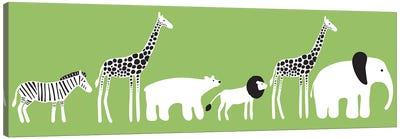 Zoo Parade Canvas Art Print