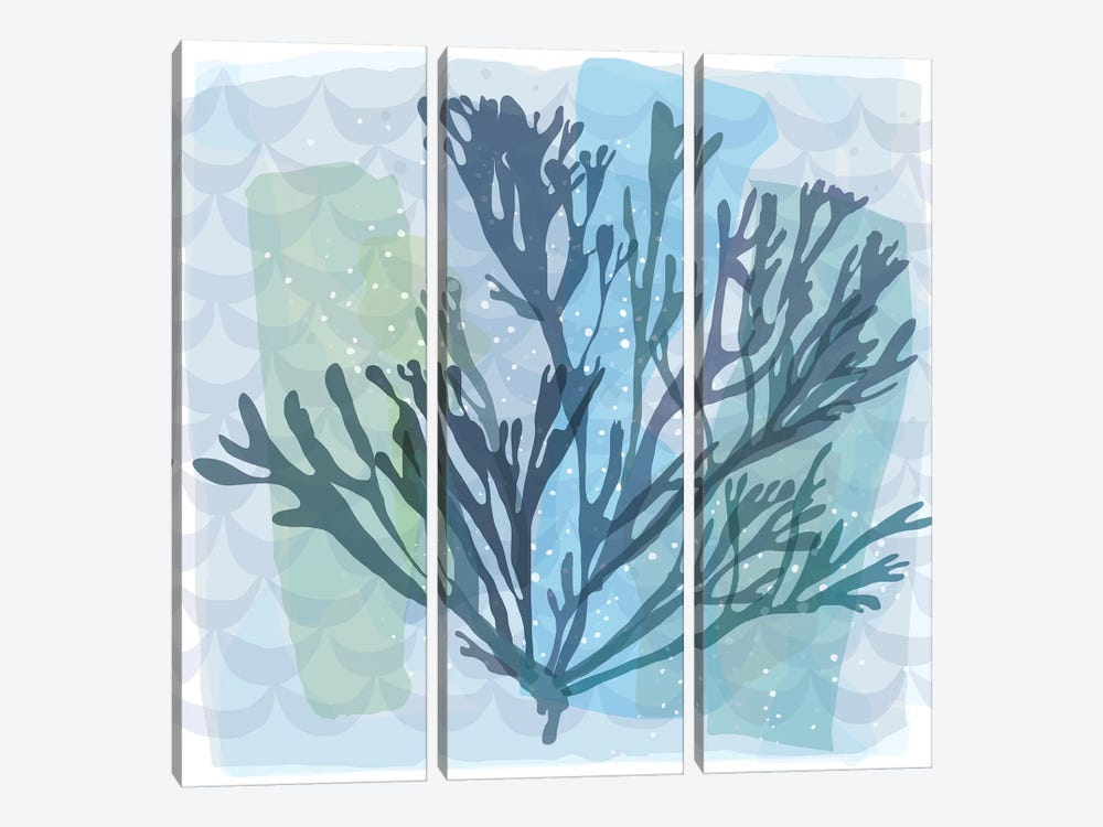 Barrier Reef Coral I by Kris Ruff 3-piece Canvas Wall Art