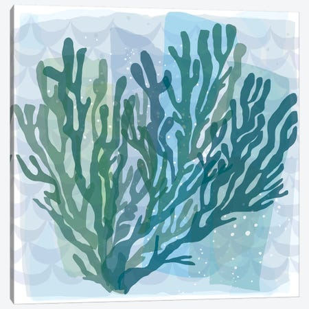 Barrier Reef Coral II Canvas Print #KRU79} by Kris Ruff Canvas Artwork