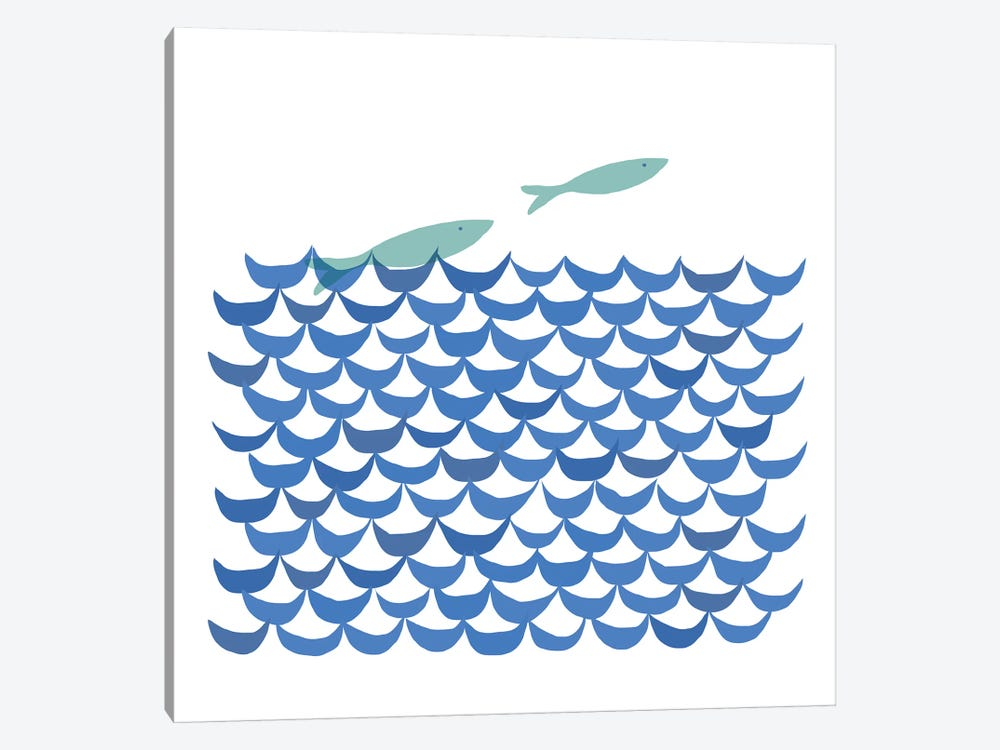 Deep Blue Sea by Kris Ruff 1-piece Canvas Wall Art
