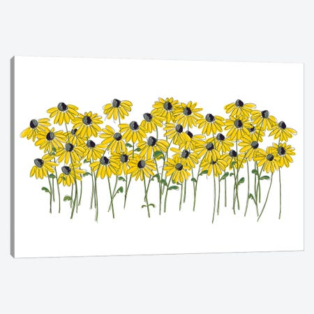 Lazy Daisy Canvas Print #KRU86} by Kris Ruff Canvas Art
