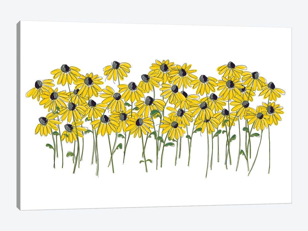 Lazy Daisy by Kris Ruff 1-piece Canvas Print