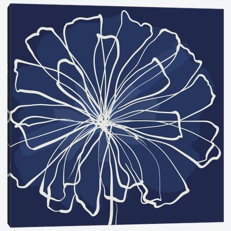 Pen & Ink Floral II Canvas Print #KRU88} by Kris Ruff Canvas Art Print