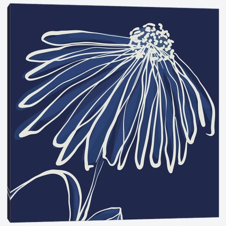 Pen & Ink Floral IV Canvas Print #KRU90} by Kris Ruff Canvas Art
