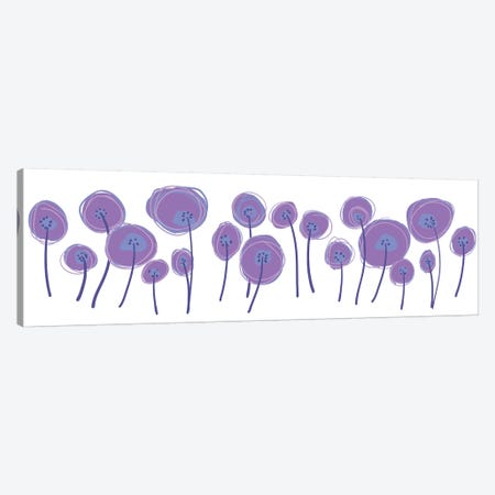 Poppies II Canvas Print #KRU93} by Kris Ruff Canvas Art