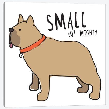 Bull Dog With Words Canvas Print #KRU98} by Kris Ruff Canvas Art