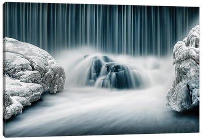 Icy Falls Canvas Art Print
