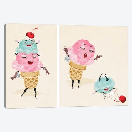 Ice Cream Tragedy 3-Piece Canvas #KSD18} by Kitschy Delish Canvas Wall Art