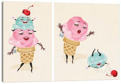 Ice Cream Tragedy Canvas Art Print