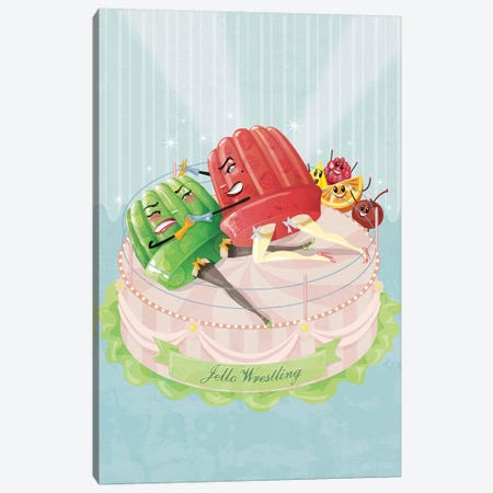 Jello Wrestling 3-Piece Canvas #KSD19} by Kitschy Delish Canvas Art
