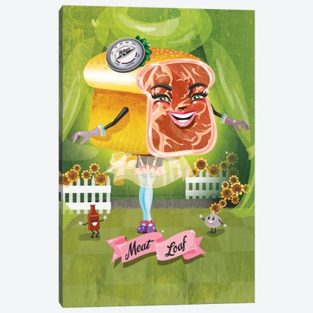 Meatloaf Canvas Print #KSD21} by Kitschy Delish Art Print