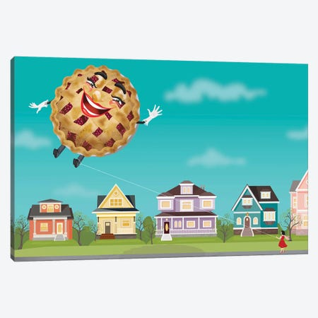 Pie In The Sky Canvas Print #KSD25} by Kitschy Delish Canvas Art