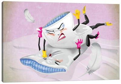 Pillow Fight Canvas Art Print