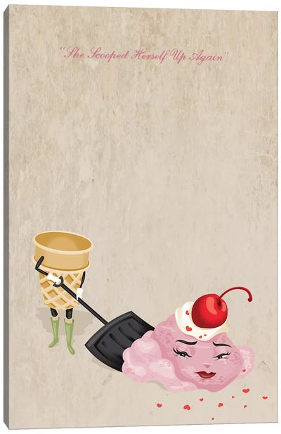 Scooped Greeting Card Canvas Art Print