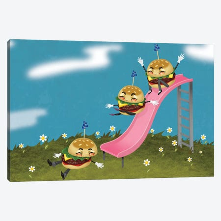Sliders 3-Piece Canvas #KSD32} by Kitschy Delish Canvas Art