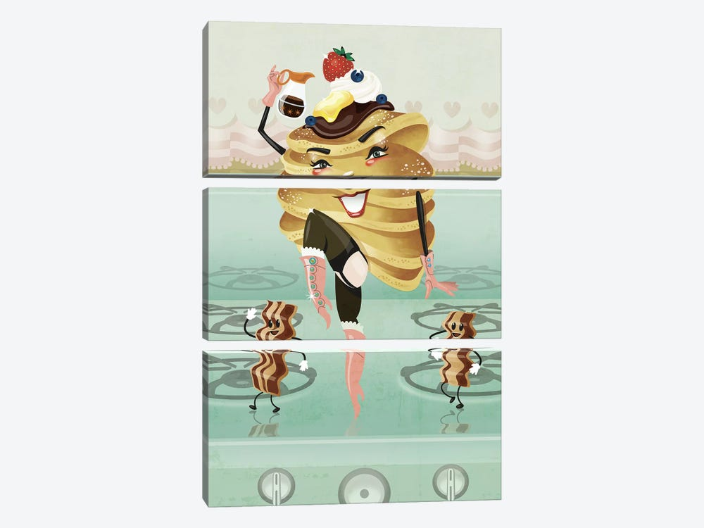 Stacked 2 by Kitschy Delish 3-piece Art Print