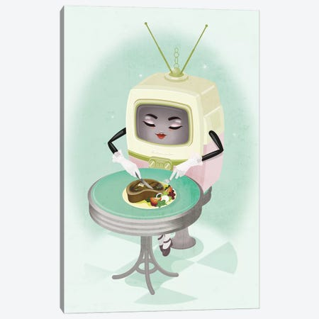 TV Dinner Canvas Print #KSD37} by Kitschy Delish Canvas Art Print