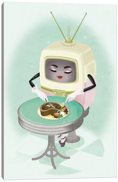 TV Dinner Canvas Art Print