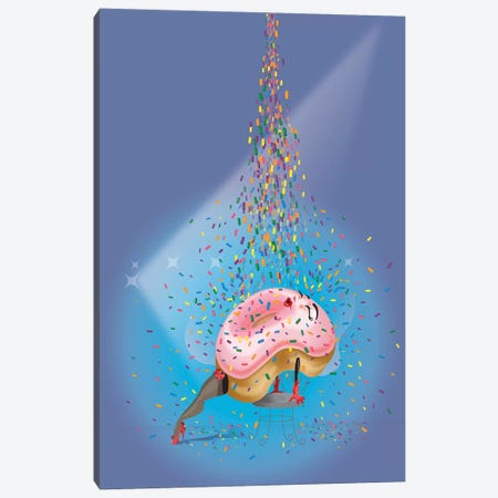 What A Feeling Canvas Print #KSD39} by Kitschy Delish Canvas Artwork