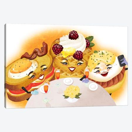 Breakfast Club Canvas Print #KSD4} by Kitschy Delish Canvas Wall Art