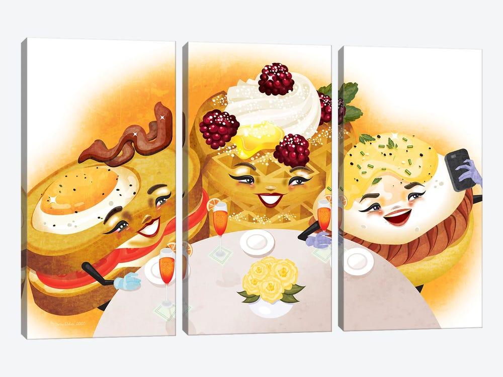 Breakfast Club by Kitschy Delish 3-piece Canvas Art Print