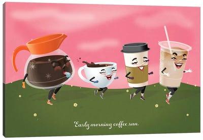 Coffee Run Canvas Art Print