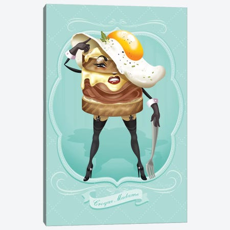 Croque Madam Canvas Print #KSD9} by Kitschy Delish Canvas Art Print