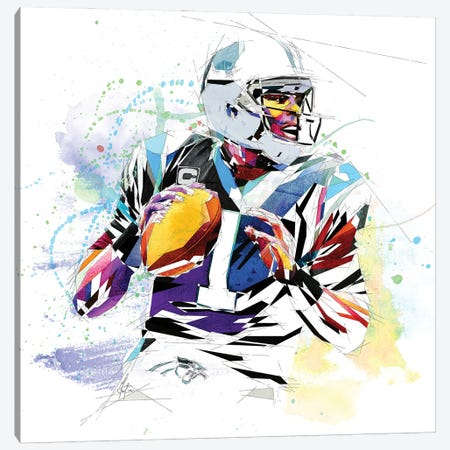 Cam Newton Canvas Print #KSK10} by Katia Skye Canvas Art Print