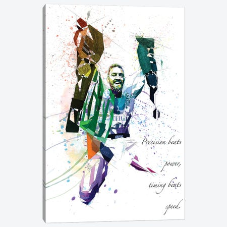 Connor Mcgregor Canvas Print #KSK11} by Katia Skye Art Print