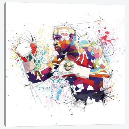 Floyd Mayweather Canvas Print #KSK13} by Katia Skye Art Print