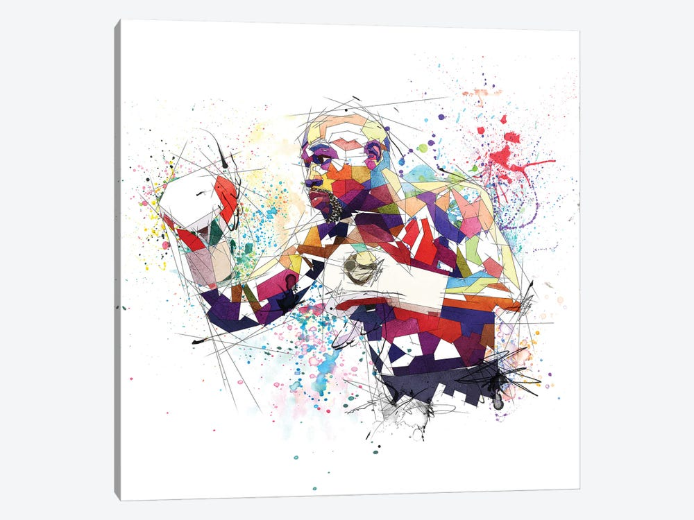 Floyd Mayweather by Katia Skye 1-piece Canvas Print