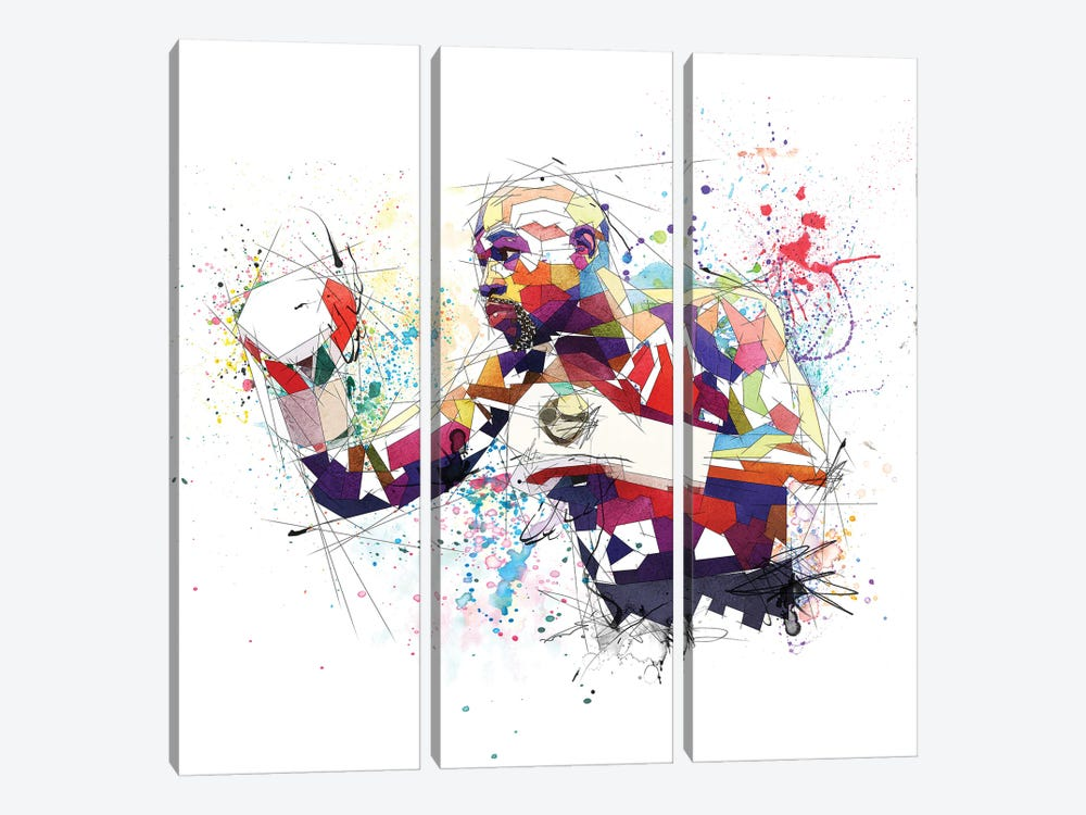 Floyd Mayweather by Katia Skye 3-piece Canvas Print