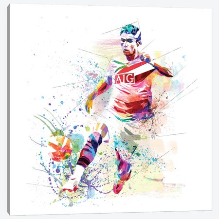 Cristiano Ronaldo Canvas Print #KSK14} by Katia Skye Canvas Wall Art