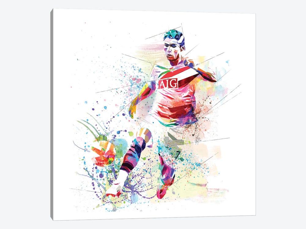 Cristiano Ronaldo by Katia Skye 1-piece Canvas Wall Art