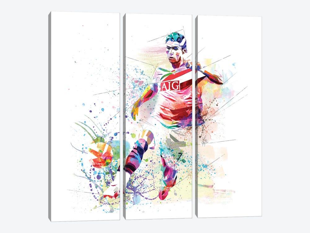 Cristiano Ronaldo by Katia Skye 3-piece Canvas Wall Art