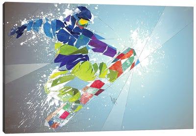 Snowboarding Canvas Art Print