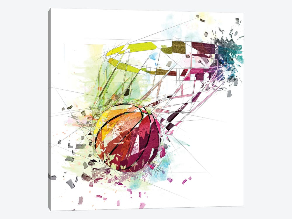 Basketball And Net by Katia Skye 1-piece Canvas Print