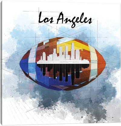 Football Los Angeles Skyline Canvas Art Print