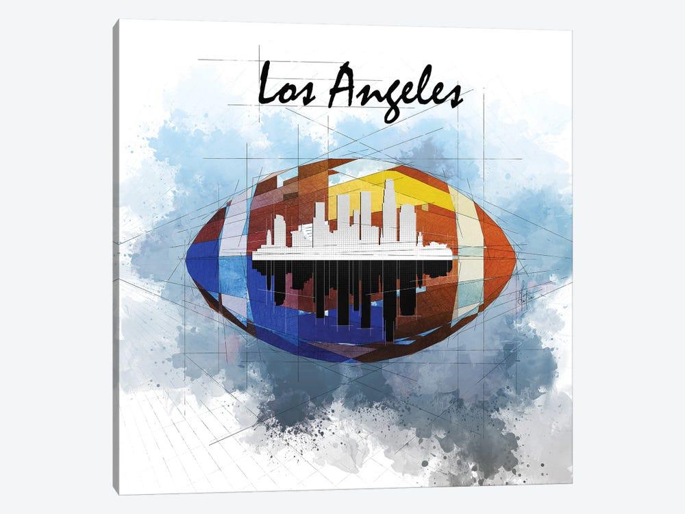 Football Los Angeles Skyline by Katia Skye 1-piece Art Print