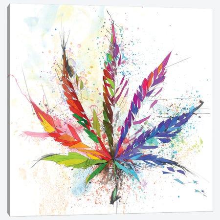 Cannabis Leaf Canvas Print #KSK22} by Katia Skye Canvas Art