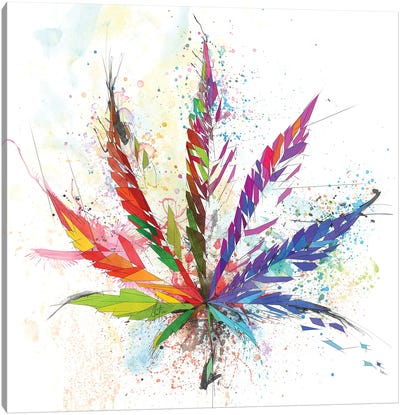 Cannabis Leaf Canvas Art Print